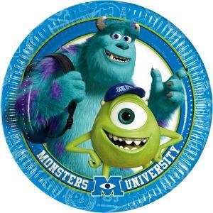 Πιάτα φαγητού 23εκ. Monsters University 8τεμ.