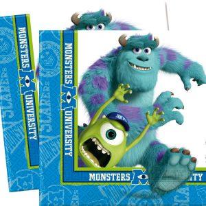 Χαρτοπετσέτες 33x33εκ. Monsters University 20τεμ.