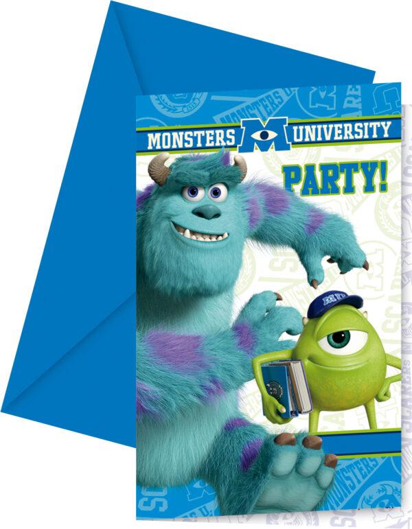 Προσκλήσεις και Φάκελοι Monsters University 6τεμ.