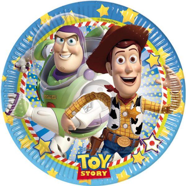 Πιάτα γλυκού Toy Story STAR POWER 8τεμ.