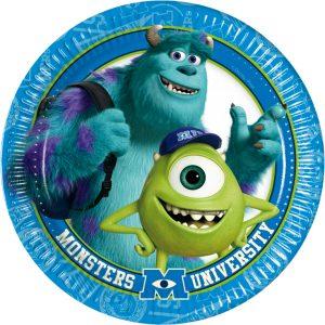 Πιάτα γλυκού 18εκ. Monsters University 8τεμ.