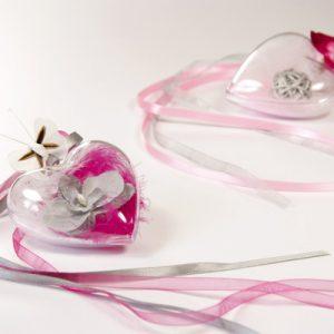 Διάφανες Πλαστικές Καρδιές 20τεμ.