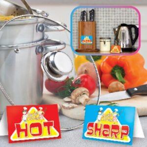 Αυτοκόλλητα και πινακίδες Little Cooks 20τεμ.