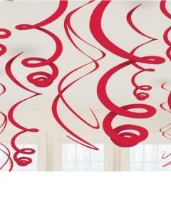 Διακοσμητικό Οροφής Σπιράλ Κόκκινο