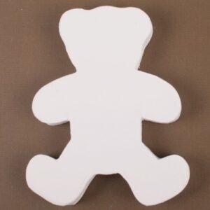 Αρκουδάκι λευκό papier-mache 1,5x12x10cm