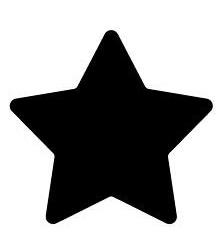 Κοπτικό σε σχήμα αστέρι 1τεμ.