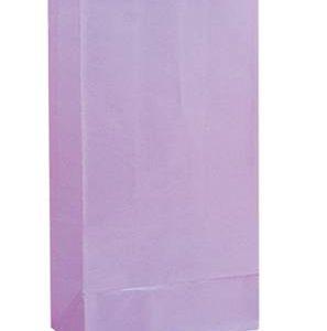 Χάρτινες σακούλες για πάρτυ 12τεμ. λιλά