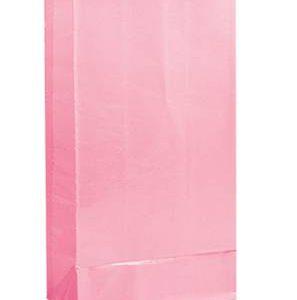 Χάρτινες σακούλες για πάρτυ 12τεμ. ροζ
