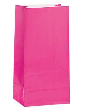 Χάρτινες σακούλες για πάρτυ 12τεμ. φούξια
