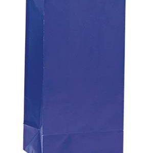 Χάρτινες σακούλες για πάρτυ 12τεμ. ρουά μπλε
