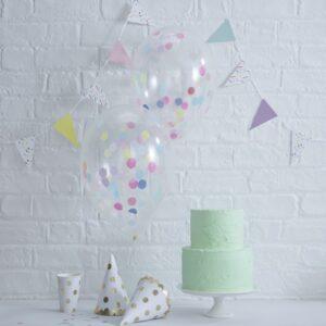 Μπαλόνια με κομφετί στο εσωτερικό Pick and Mix 5τεμ.