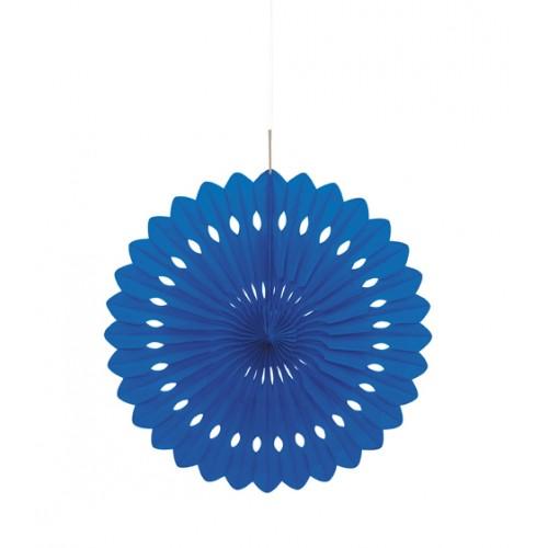 Κρεμαστή διακοσμητική βεντάλια μπλε 1τεμ.
