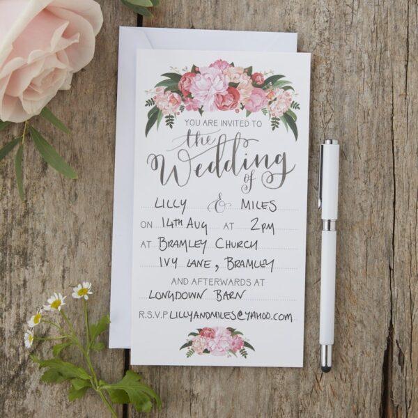 Προσκλήσεις γάμου 10τεμ. Boho