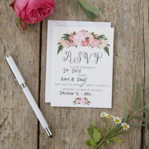 Απαντητικές κάρτες προσκλήσεων γάμου 10τεμ. Boho