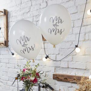 Μπαλόνια Mr & Mrs Boho 10τεμ.