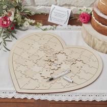 Ξύλινη Καρδιά Puzzle 1τεμ.