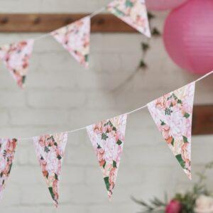 Γιρλάντα λουλουδένια σημαιάκια 3m Boho