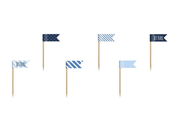 Οδοντογλυφίδες σημαιάκια Little Plane 6τεμ.