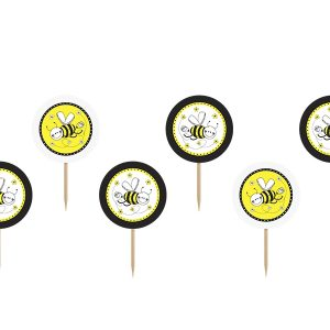 Cupcake toppers Bee 6τεμ.