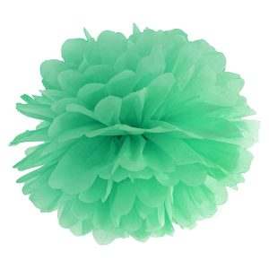 Fluffy pom pom green mint 25εκ. 1τεμ.