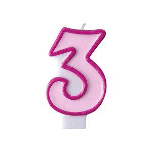 Κερί ροζ Νο 3