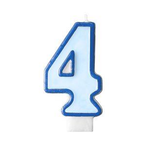Κερί γαλάζιο Νο 4