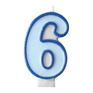 Κερί γαλάζιο Νο 6