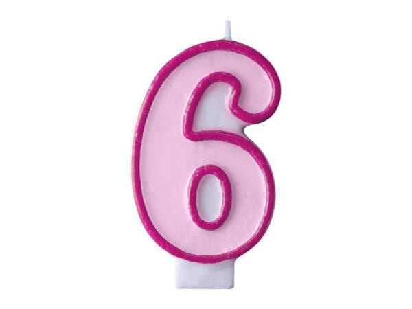 Κερί ροζ Νο 6