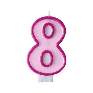 Κερί ροζ Νο 8