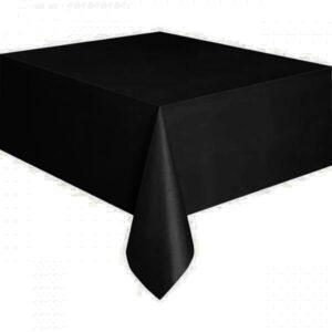Τραπεζομάντηλο πλαστικό μαύρο μονόχρωμο 1,37x2,74m