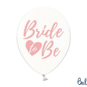 """Μπαλόνι Διάφανο με Ροζ """"Bride To Be"""" 1τεμ."""