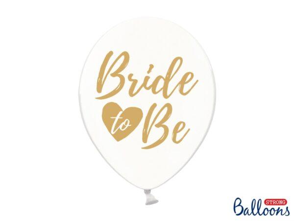 """Μπαλόνι Διάφανο με Χρυσό """"Bride To Be"""" 1τεμ."""