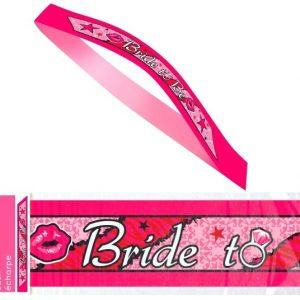 Κορδέλα Bride To Be φούξια 1τεμ.