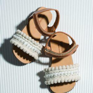 Παπούτσια Baby Walker BW4596 Ταμπά-Εκρού