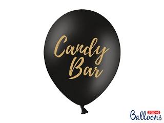"""Μπαλόνι Μαύρο με Χρυσό """"Candy Bar"""" 1τεμ. 30εκ."""