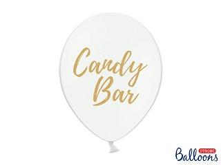 """Μπαλόνι Λευκό με Χρυσό """"Candy Bar"""" 1τεμ. 30εκ."""
