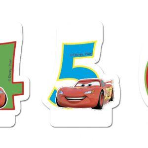 Κεράκια Cars με Αριθμούς