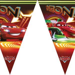Γιρλάντα τρίγωνα σημαιάκια Cars Neon 1τεμ.