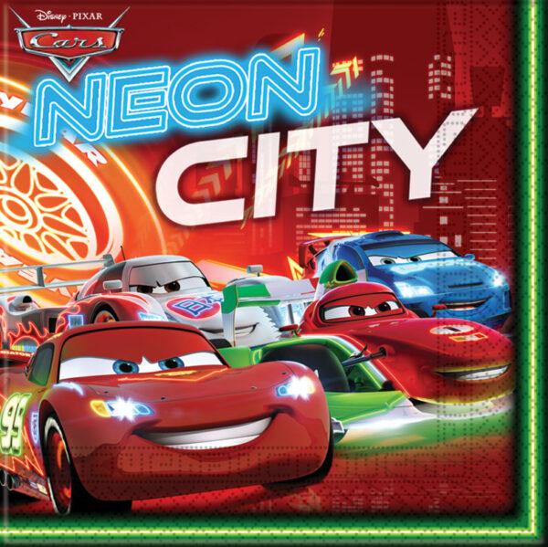 Χαρτοπετσέτες 33x33εκ. Cars Neon 20τεμ.