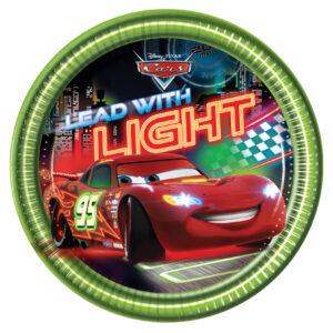 Πιάτα γλυκού 20εκ. Cars Neon 8τεμ.