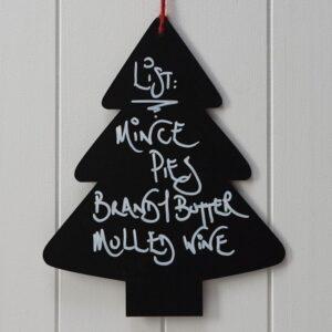 Πινακίδα Δέντρο μαυροπίνακα Vintage Noel