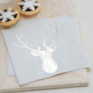 Χαρτοπετσέτες Christmas Metallics 33Χ33εκ. 20τεμ