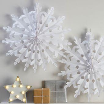 Μεγάλες Διακοσμητικές Χιονονιφάδες Christmas Metallics 2τεμ. 60εκ.