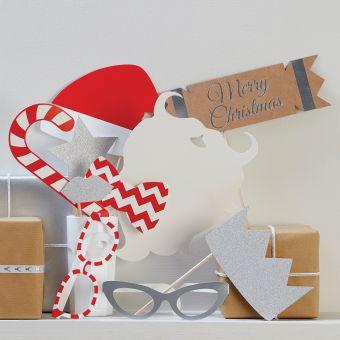 Χριστουγεννιάτικο Photo Booth 10τεμ.