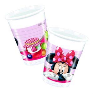 Ποτήρια πλαστικά 200ml Minnie Jam 8τεμ.