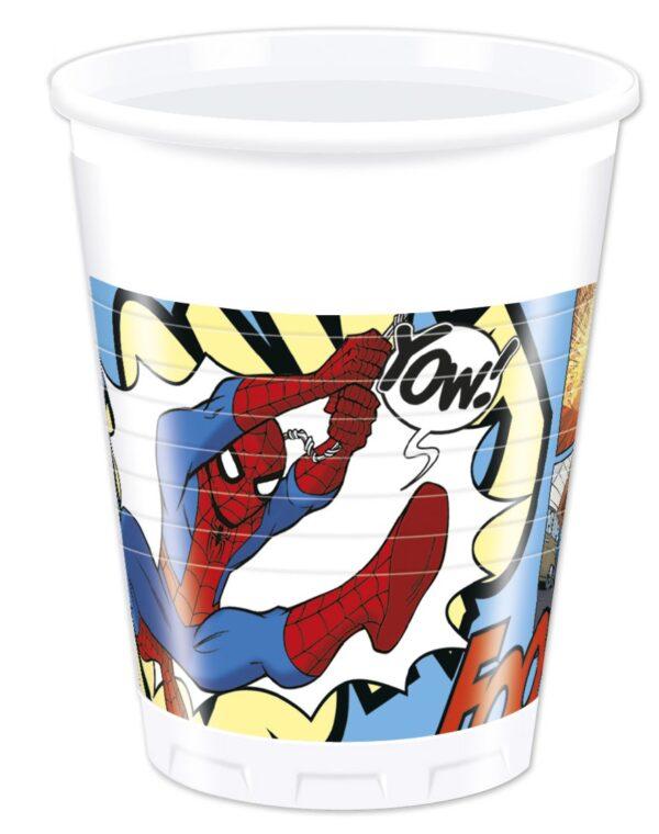Ποτηράκια 200ml Ultimate Spiderman 8τεμ.
