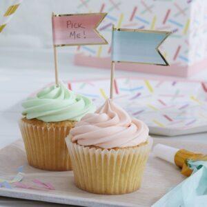 Διακοσμητικά ombre toppers για cake και cupcakes Pick and Mix 10τεμ.