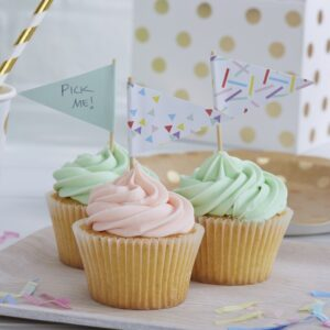 Διακοσμητικά τρίγωνα toppers για cake και cupcakes Pick and Mix 10τεμ.