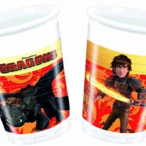 Ποτήρια πλαστικά 200ml Dragons 8τεμ.