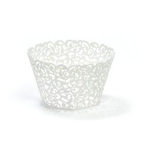 Cupcake Θήκες Λευκές 10τεμ.